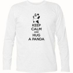 Футболка с длинным рукавом KEEP CALM and HUG A PANDA