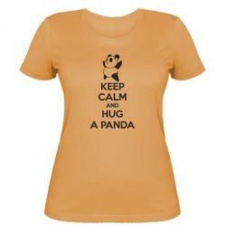 Женская футболка KEEP CALM and HUG A PANDA