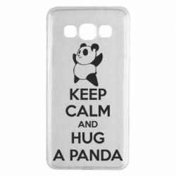 Чохол для Samsung A3 2015 KEEP CALM and HUG A PANDA