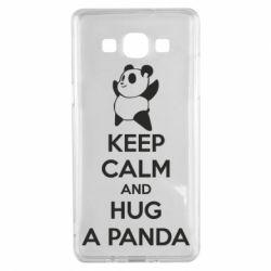 Чохол для Samsung A5 2015 KEEP CALM and HUG A PANDA