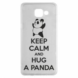 Чохол для Samsung A5 2016 KEEP CALM and HUG A PANDA