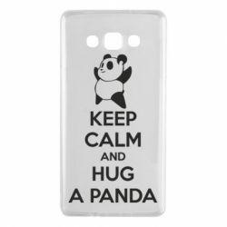 Чохол для Samsung A7 2015 KEEP CALM and HUG A PANDA