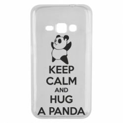 Чохол для Samsung J1 2016 KEEP CALM and HUG A PANDA