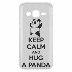 Чохол для Samsung J2 2015 KEEP CALM and HUG A PANDA