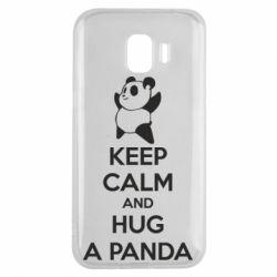 Чохол для Samsung J2 2018 KEEP CALM and HUG A PANDA