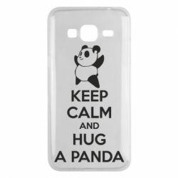 Чохол для Samsung J3 2016 KEEP CALM and HUG A PANDA