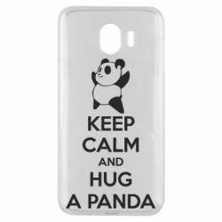 Чохол для Samsung J4 KEEP CALM and HUG A PANDA