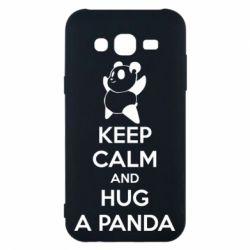 Чохол для Samsung J5 2015 KEEP CALM and HUG A PANDA