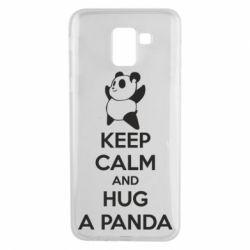 Чохол для Samsung J6 KEEP CALM and HUG A PANDA