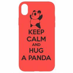 Чохол для iPhone XR KEEP CALM and HUG A PANDA