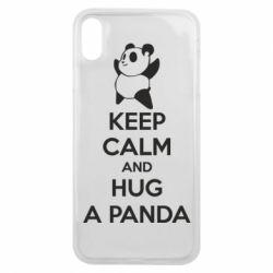 Чохол для iPhone Xs Max KEEP CALM and HUG A PANDA