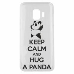 Чехол для Samsung J2 Core KEEP CALM and HUG A PANDA