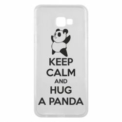 Чохол для Samsung J4 Plus 2018 KEEP CALM and HUG A PANDA