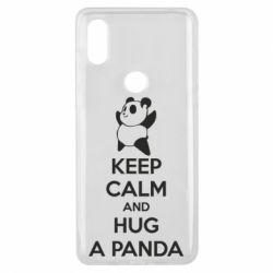 Чехол для Xiaomi Mi Mix 3 KEEP CALM and HUG A PANDA