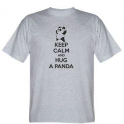 Чоловіча футболка KEEP CALM and HUG A PANDA