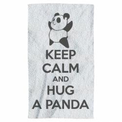Рушник KEEP CALM and HUG A PANDA