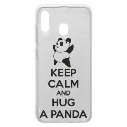 Чохол для Samsung A20 KEEP CALM and HUG A PANDA