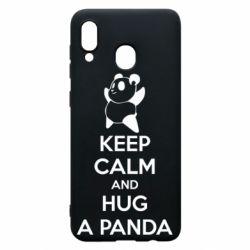 Чохол для Samsung A30 KEEP CALM and HUG A PANDA