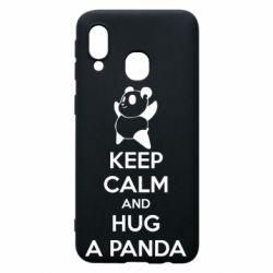 Чохол для Samsung A40 KEEP CALM and HUG A PANDA