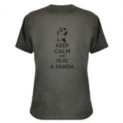 Камуфляжная футболка KEEP CALM and HUG A PANDA - FatLine