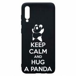 Чохол для Samsung A70 KEEP CALM and HUG A PANDA