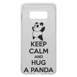 Чохол для Samsung S10e KEEP CALM and HUG A PANDA