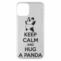 Чехол для iPhone 11 KEEP CALM and HUG A PANDA