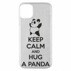 Чехол для iPhone 11 Pro KEEP CALM and HUG A PANDA