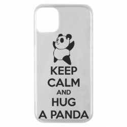 Чохол для iPhone 11 Pro KEEP CALM and HUG A PANDA