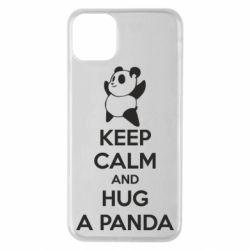 Чохол для iPhone 11 Pro Max KEEP CALM and HUG A PANDA