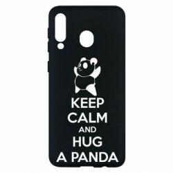 Чохол для Samsung M30 KEEP CALM and HUG A PANDA