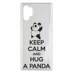 Чохол для Samsung Note 10 Plus KEEP CALM and HUG A PANDA