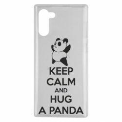 Чехол для Samsung Note 10 KEEP CALM and HUG A PANDA