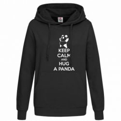 Женская толстовка KEEP CALM and HUG A PANDA - FatLine