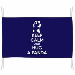 Флаг KEEP CALM and HUG A PANDA