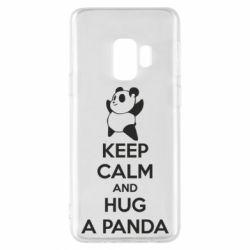 Чехол для Samsung S9 KEEP CALM and HUG A PANDA