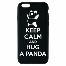 Чехол для iPhone 6/6S KEEP CALM and HUG A PANDA