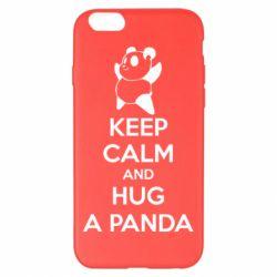 Чохол для iPhone 6 Plus/6S Plus KEEP CALM and HUG A PANDA