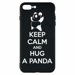 Чехол для iPhone 7 Plus KEEP CALM and HUG A PANDA
