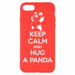 Чехол для iPhone 8 KEEP CALM and HUG A PANDA