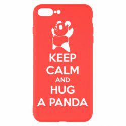 Чехол для iPhone 8 Plus KEEP CALM and HUG A PANDA