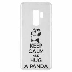 Чехол для Samsung S9+ KEEP CALM and HUG A PANDA