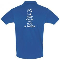 Футболка Поло KEEP CALM and HUG A PANDA - FatLine
