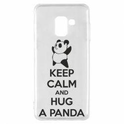 Чохол для Samsung A8 2018 KEEP CALM and HUG A PANDA