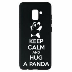 Чохол для Samsung A8+ 2018 KEEP CALM and HUG A PANDA