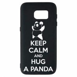 Чехол для Samsung S7 KEEP CALM and HUG A PANDA