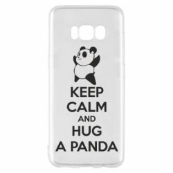 Чехол для Samsung S8 KEEP CALM and HUG A PANDA