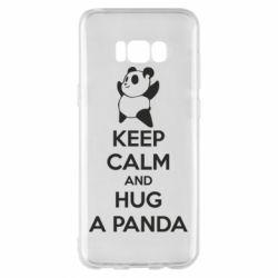 Чехол для Samsung S8+ KEEP CALM and HUG A PANDA