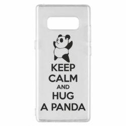 Чехол для Samsung Note 8 KEEP CALM and HUG A PANDA