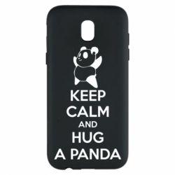 Чохол для Samsung J5 2017 KEEP CALM and HUG A PANDA